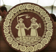 Couple and Bird Plate